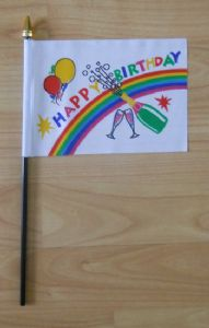 Happy Birthday Hand Flag - Small.